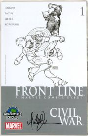 Civil War Front Line #1 Wizard World Chicago Sketch Variant Signed Michael Turner COA Marvel comic